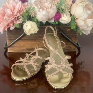 Gorgeous gold sandals! Worn once!